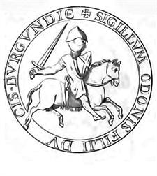 Sceau de Eudes III Duc de Bourgogne Recueil des sceaux du Moyen-Âge dits sceaux gothiques 1779