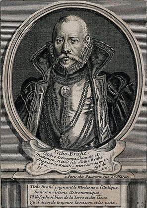 Tycho Brahe. Line engraving after T. Gemperlin 1586. Wellcome V0000744