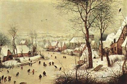 bruegel patineurs en hiver