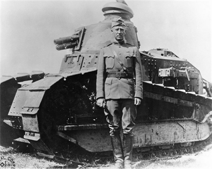 George S. Patton  char Renault FT ete 1918 World War I Signal Corps Photograph Collection