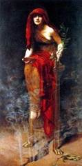 Priestess of Delphi 1891 by John Collier2