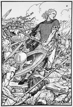 Alfred the Great at the Battle of Ashdown by Morris Meredith Williams