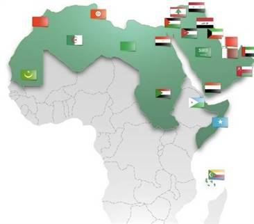 carte membres ligue arabe