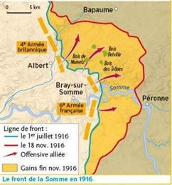 carte bataille somme