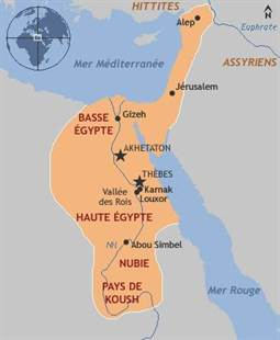 carte egypte antique 1
