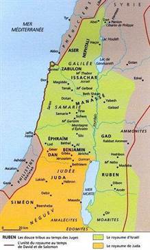 carte royaumes isreal