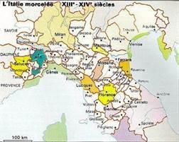 Carte Italie Xve Siecle.L Italie A La Fin Du Moyen Age Xiiie Xve