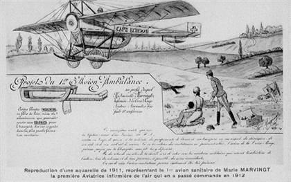 Marie Marvingt et projet avion sanitaire