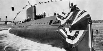Inauguration sous marin nucl aire USS Nautilus 21 janvier 1954