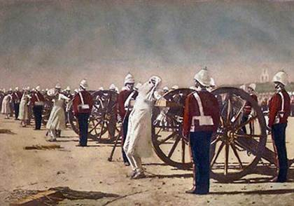 vereshchagin-blowing_from_guns_in_british_india